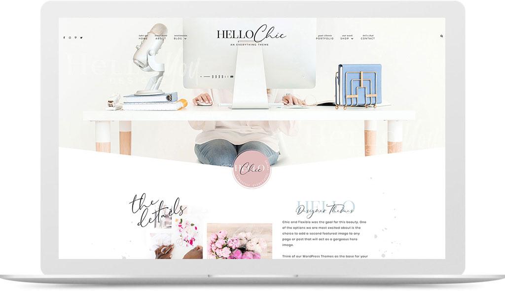 hello chic feminine wordpress theme